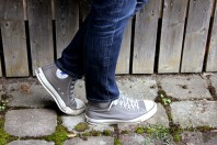 graue Chucks   Striped Blazer   Style my Fashion