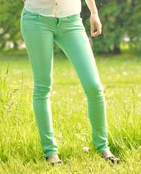 Röhrenjeans, pastellgrün | Pastelltöne | Style my Fashion