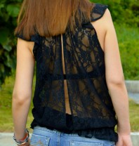 black lace ...keep it casual