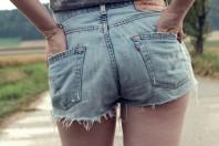 High waist Levis Shorts