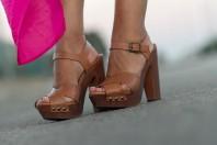 PINK MAXI SKIRT - Sandals