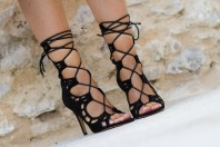Lace-Up Scalloped Heels: Ayoka