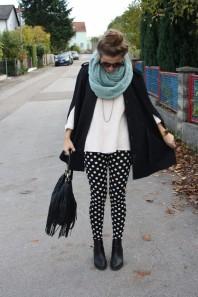 Punkteleggings | Herbstblatt | Style my Fashion