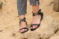 Flat Leather Sandals - CHOIES