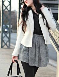 zweifarbig bedruckter Rock | Die Overknees,... | Style my Fashion