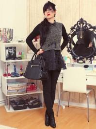 Kleid mit Lederkragen | Back to Black | Style my Fashion
