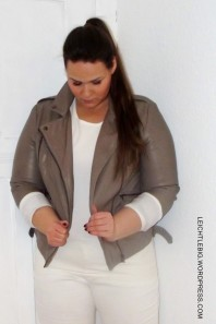 graue Lederjacke | Plus Size Casua... | Style my Fashion