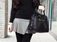 Faltenrock mit Hahnetritt | Paint it Black | Style my Fashion