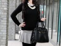 Pullover mit weißem Kragen   Paint it Black   Style my Fashion