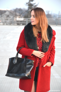 Roter Zara Mantel  | Red Polarised | Style my Fashion