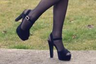schwarze High Heel Sandaletten