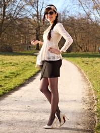 Hellbraun/rosefarbene Tunika kombinieren: 'Peplum Bluse' (Damen, Bluse, braun, rosa, Bilder) | Style my Fashion