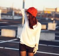 orangefarbene häkelmütze | sorgenfrei. | Style my Fashion
