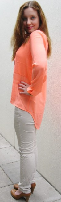 Orange klassische Bluse kombinieren: 'Orange Bluse' (Damen, Bluse, orange, Bilder) | Style my Fashion