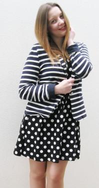 Blau/weißer Blazer kombinieren: 'Maritimer Blazer' (Damen, Jacke, blau, weiß, Bilder) | Style my Fashion