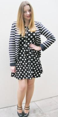 Schwarz/weißes klassisches Kleid kombinieren: 'Gepunktetes Kleid' (Damen, Kleid, schwarz, weiß, Bilder) | Style my Fashion