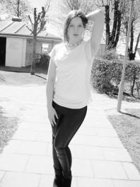 Schwarze Leggings kombinieren: 'Lederleggings' (Damen, Hose, schwarz, Bilder) | Style my Fashion