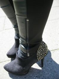 Schwarz/goldene Pumps kombinieren: 'Hochfrontpumps' (Damen, Schuhe, schwarz, braun, gelb, Bilder) | Style my Fashion