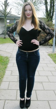 Dunkelblaue Slimfit-Jeans kombinieren: 'jeans röhre' (Damen, Jeans, blau, Bilder) | Style my Fashion