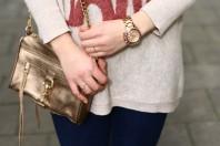 Goldene Abendtasche kombinieren: 'Mini Mac' (Damen, Tasche, braun, gelb, Bilder) | Style my Fashion
