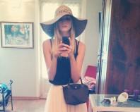 Schwarz/beige/hellbraun/dunkelbraun/apricotfarbener Hut kombinieren: 'Sommer Hut' (Damen, Hut / Mütze, schwarz, braun, orange, gelb, Bilder)   Style my Fashion