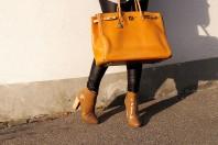 Apricotfarbene Handtasche kombinieren: 'Hermes Paris Birkin 40' (Damen, Tasche, orange, Bilder) | Style my Fashion