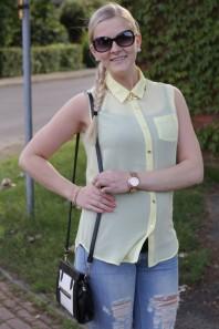 Gelbe klassische Bluse kombinieren: 'Hemdbluse' (Damen, Bluse, gelb, Bilder)   Style my Fashion