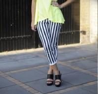 Gestreifte Hosen   Luftiger Neon-L...   Style my Fashion