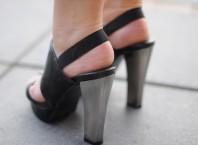 Sandalen mit silbernen Absatz | Luftiger Neon-L... | Style my Fashion