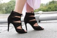 Schwarze Sandaletten kombinieren: 'Zara Heels' (Damen, Schuhe, schwarz, Bilder) | Style my Fashion