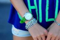 Armband weißgold beschichtet mit blauer Edelsteinimitation  | Wild Child | Style my Fashion