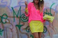Handtasche mit gelbem Spitzen-Muster  | Gelbe Spitze | Style my Fashion