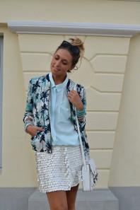 Palmen Blouson   Palmen und Lede...   Style my Fashion