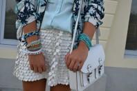 weißer verspielter Lederrock | Palmen und Lede... | Style my Fashion