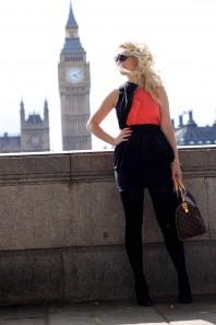schickes Top in orange & schwarz | Orange & Black | Style my Fashion