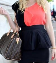 klassischer schlichter Rock in schwarz  | Orange & Black | Style my Fashion