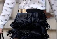 schwarzer Gürtel mit Goldschnalle | Leopard Faces | Style my Fashion