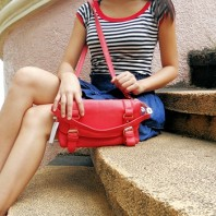 Rote Ledertasche   Red Marine   Style my Fashion
