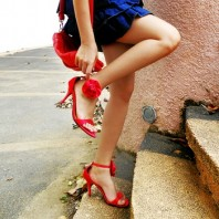 High heels mit roter Rose | Red Marine | Style my Fashion