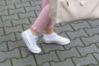 Weiße Sneakers kombinieren: 'weiße Checks' (Damen, Schuhe, weiß, Bilder) | Style my Fashion