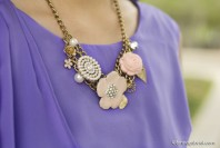 goldene Kette mit Blütenornamenten   Lavender Rain   Style my Fashion