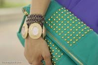 mintgrüne Handtsche mit goldenen Nieten | Lavender Rain | Style my Fashion