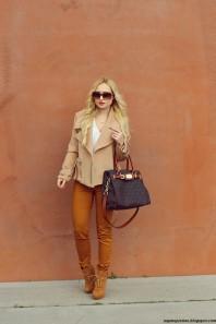 Apricotfarbener Kurzmantel kombinieren: 'Apricot Woolen Coat' (Damen, Mantel, orange, Bilder) | Style my Fashion