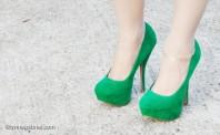 grüne Plateau High-Heels in Samt   Ein Traum in Ma...   Style my Fashion