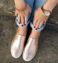 Rosefarbene Flache Slipper kombinieren: 'rosegoldene Flats ' (Damen, Schuhe, rosa, Bilder) | Style my Fashion