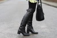 Schwarze Stiefel kombinieren: 'schwarze Overknees' (Damen, Schuhe, schwarz, Bilder) | Style my Fashion