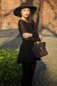 Dunkelbraun/bronzene Abendtasche kombinieren: 'dark brown & gold' (Damen, Tasche, braun, orange, Bilder) | Style my Fashion