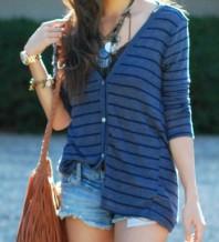 dünner Cardigan, blau gestreift | Lässig! | Style my Fashion