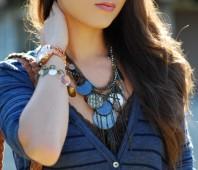 Kette mit blauen Kreisen | Lässig! | Style my Fashion