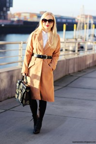 Apricotfarbener Langmantel kombinieren: 'Camel coat' (Damen, Mantel, orange, Bilder) | Style my Fashion